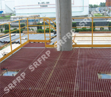 Phenolic Grating Platform at Petrochemical Tank Area